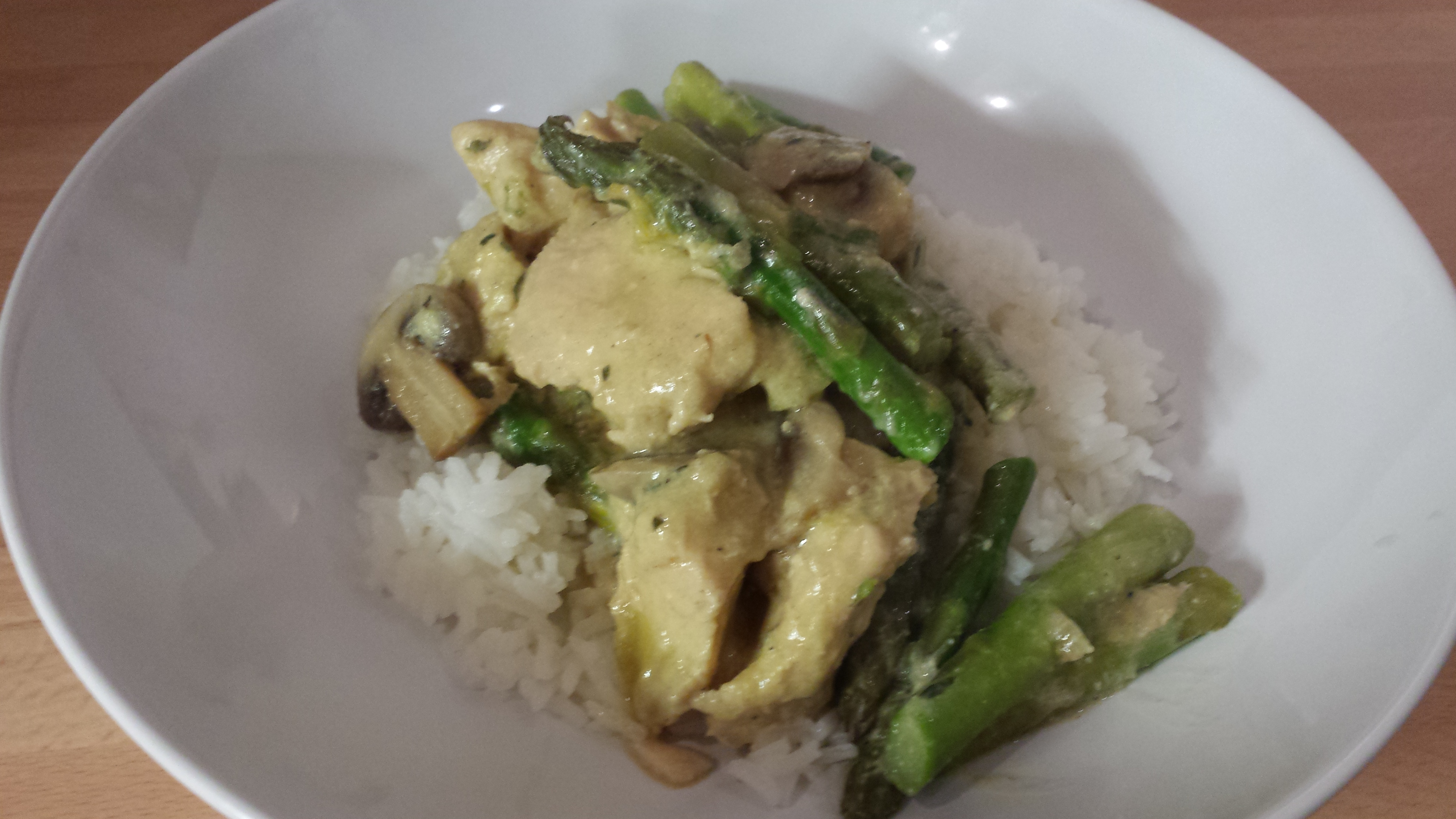 chicken with mushroom and asparagus
