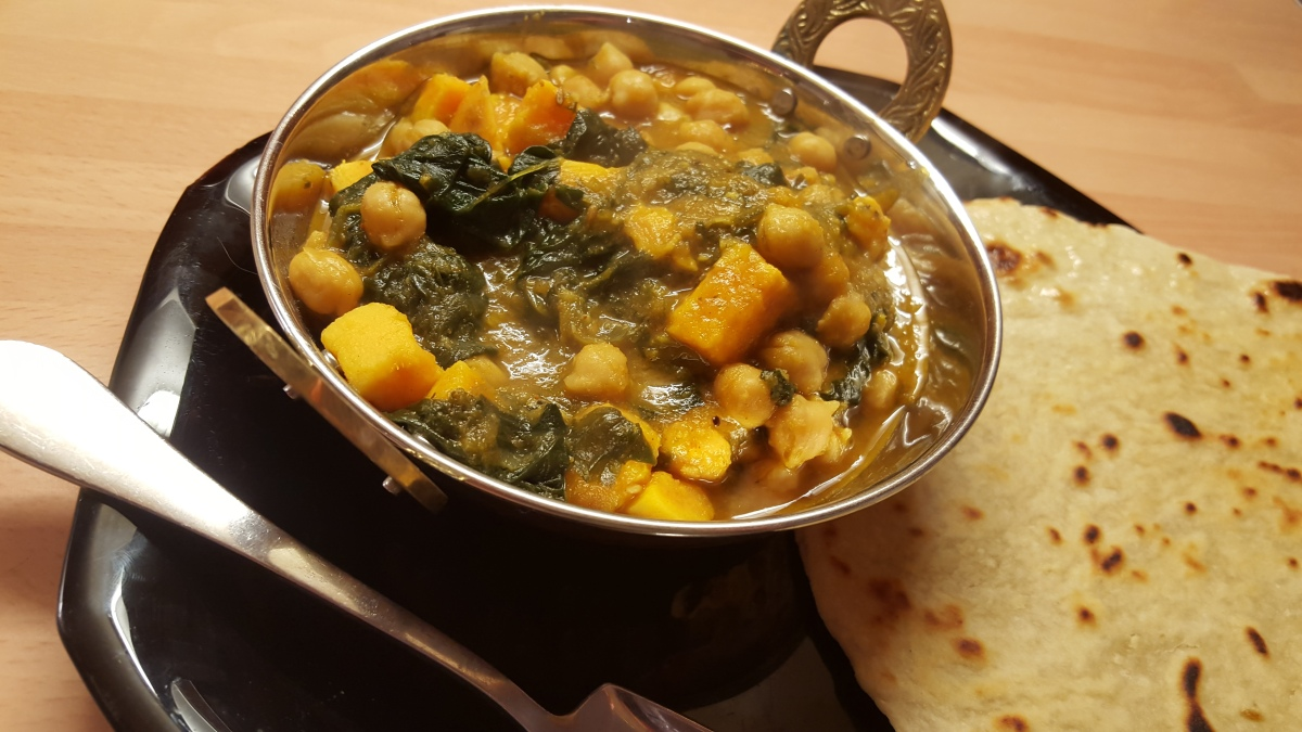 Sweet potato, Spinach & Chickpea Curry