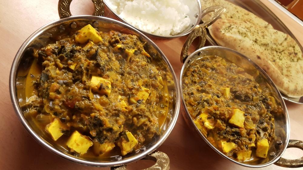 Palak Paneer Vegetarian Curry